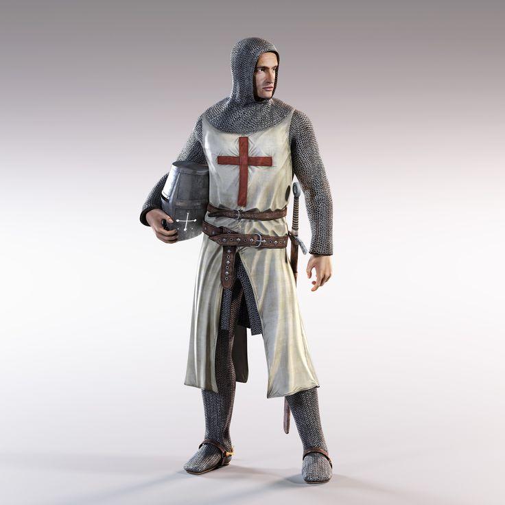 knight rigged 3d max