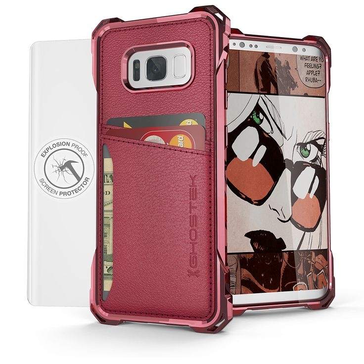 Galaxy S8+ Plus Wallet Case, Ghostek® Exec Series for SamSung Galaxy S8+ Plus Slim Armor Hybrid Impact Bumper | TPU PU Leather Credit Card Slot Holder Sleeve Cover | Shatterproof Screen Protector (Red) 3 Pocket Wallet (For Your Credit Cards, ID's & Cash) Touch ID Compatible Includes Soft Screen Protector Easy Access to All Buttons, Controls, Camera, Speaker & Microphone Five Colors to Choose From This Case Comes With Ghostek's Lifetime Limited Exchange Warranty. Your case is covered, no…