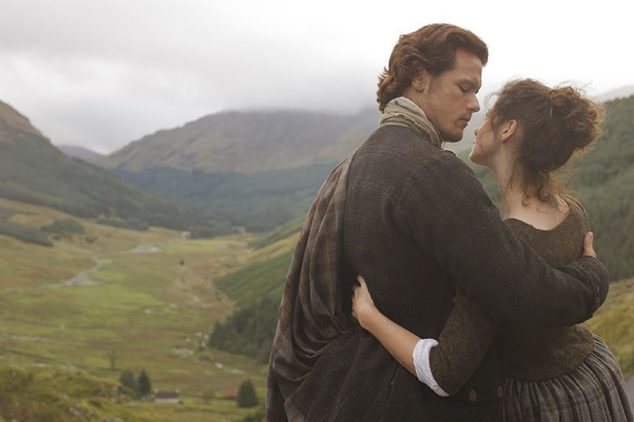 Photographer Nick Briggs uploaded quite a few of his photos from a promotional photoshoot of Claire (Caitriona Balfe) and Jamie (Sam Heughan) from the first season of Outlander.