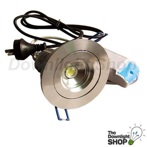 VIVID MR16 10.5W LED DOWNLIGHT KIT (BRUSHED ALUMINIUMR) COOL WHITE LIGHT -  $59.95 SAVE: 25% OFF