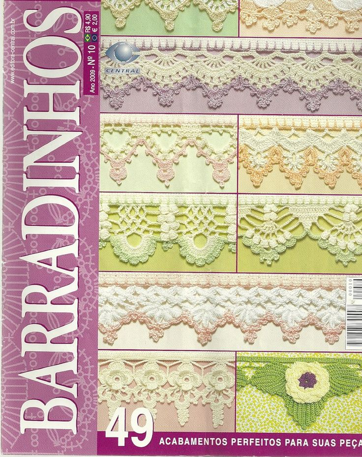 Another beautiful book full of crocheted edgings with photos and charts.