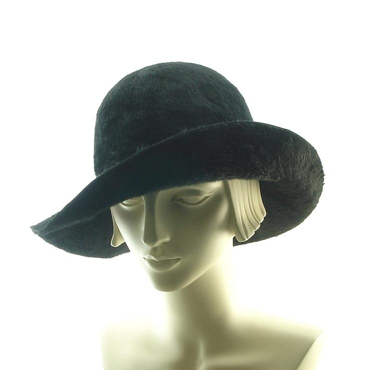 black floppy hat for luxurious borsalino beaver