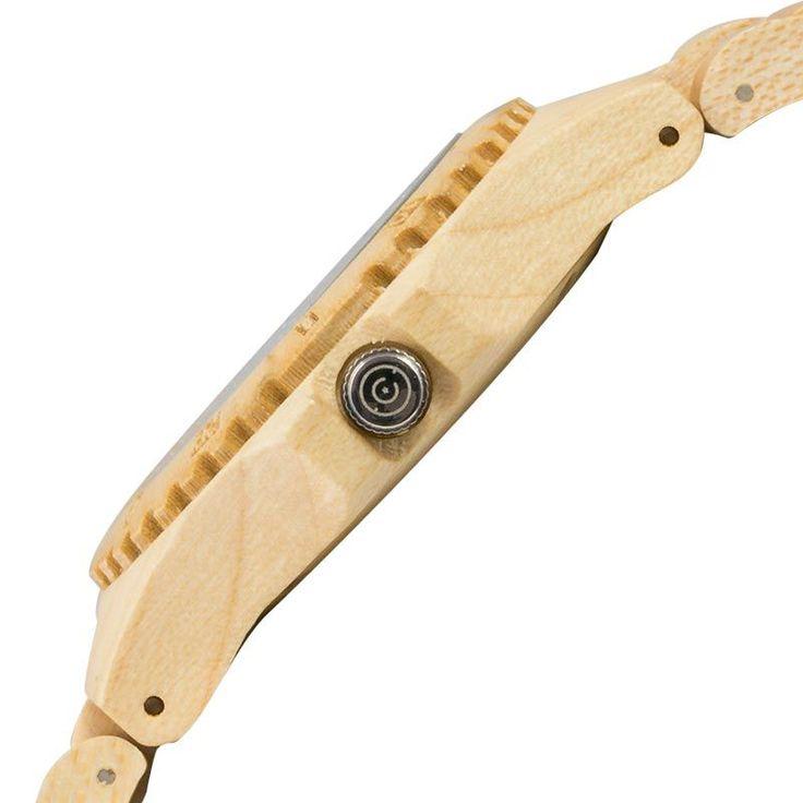 Reloj madera de pulsera original de hombre CohnquerCoolness Maple. Diseño deportivo en madera de arce. ¡Cómpralo ahora con gastos de envío GRATIS!