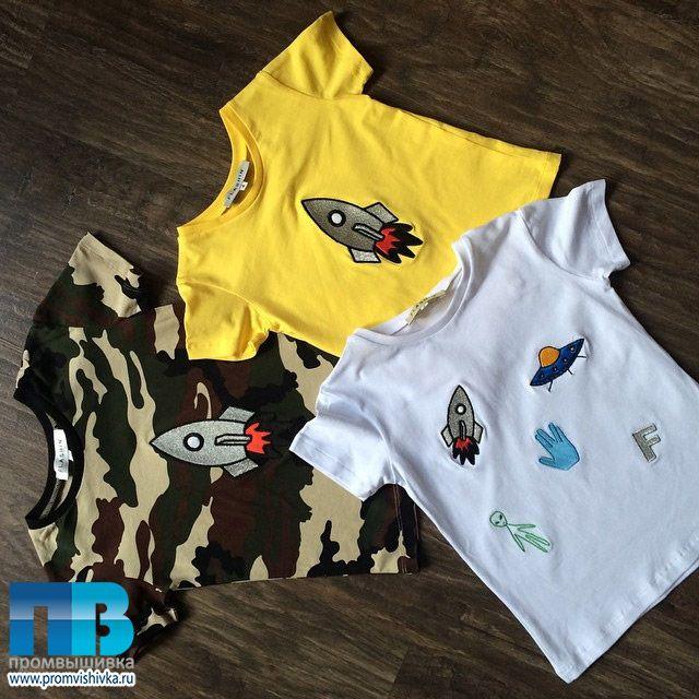 Вышивка на детских футболках для FLASHIN'