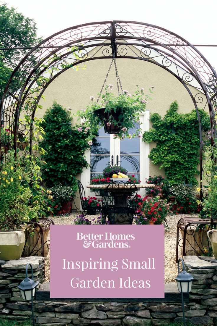 The perfect outdoor dining space or garden can be created anywhere, even in a small yard. We've rounded up 15 of our favorite inspiring spaces and ideas to help you make the most of your backyard, no matter its size. #smallbackyard #backyardideas #gardenideas #smallgarden