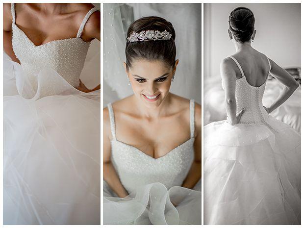 Vestido de noiva volumoso - Casamento Luiza e Sulivam