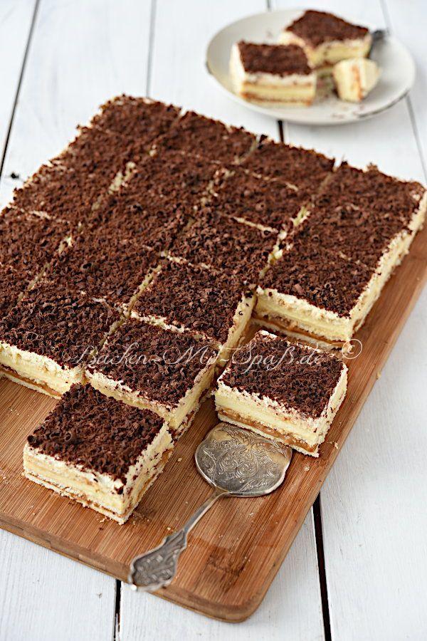 Butterkeks Karamell Cremeschnitten Rezept Kuchen Ohne Backen Kuchen Und Torten Rezepte Und Susse Kuchen
