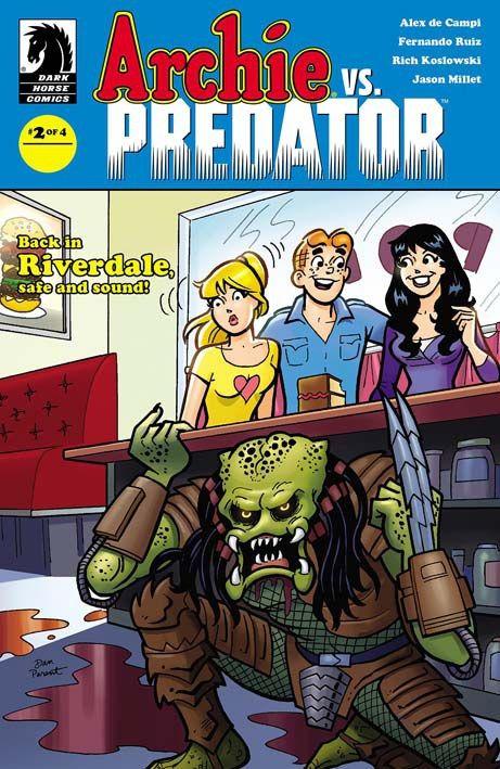 Archie vs Predator 2 (2015) Cover di Dan Parent #DarkHorseComics #Predator #ArchieComics #DanParent