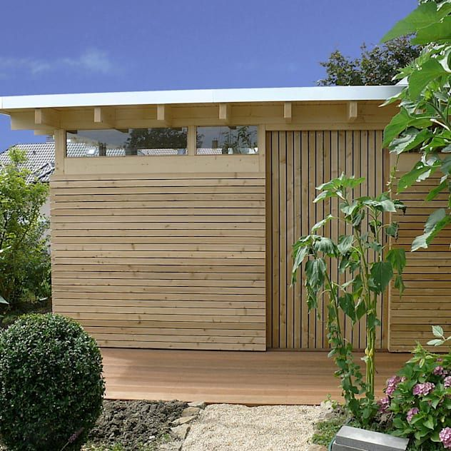 Sauna We Wlasnym Ogrodzie 12 Doskonalych Przykladow Homify Homify In 2020 Design Gartenhaus Gartenhaus Modern Flachdach Gartenhaus
