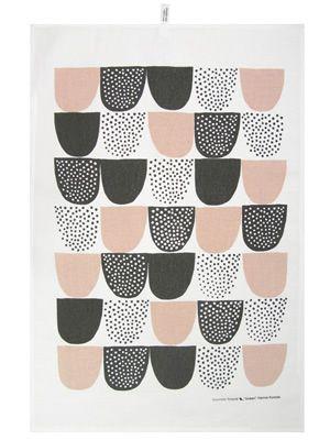 Sokeri Tea TowelPrints Pattern, Kitchens Towels, Teas Towels Design, Tea Towels, Mugs Design, Pink Kitchens, Teas Towels Prints, Black And White Kitchens Art, Hanna Konola