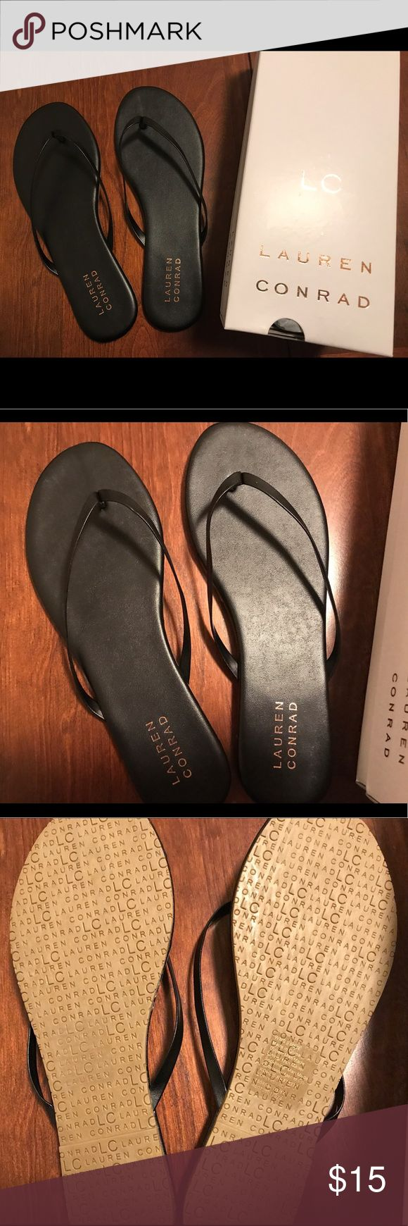LC Lauren Conrad Flip Flop Sandals BRAND NEW Lauren Conrad Flip Flop Sandals. Size 9. BRAND NEW. Includes original box. Two available for purchase (price includes one pair). LC Lauren Conrad Shoes Sandals