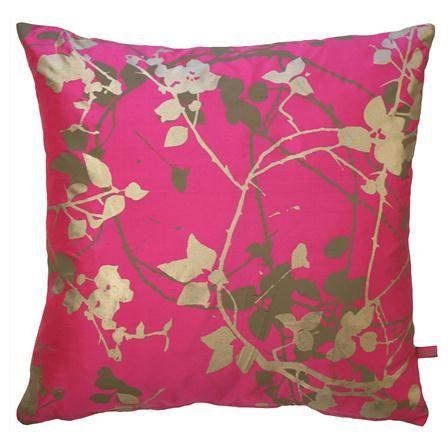 Clarissa Hulse Briar Silk Cushion, Neon & Pebble