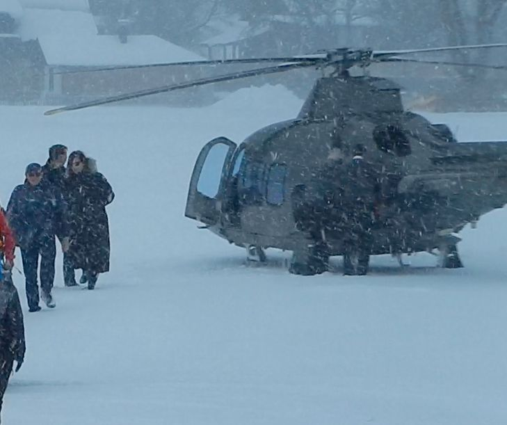 VIDEO:Daniel Craig and Monica Bellucci have arrived in Altaussee:January 4,2015  http://www.arf.at/?p=165801