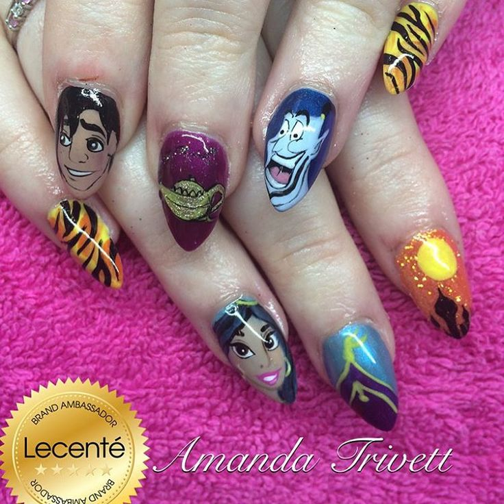 Aladdin Nail Art: 211 Best Images About Disney Inspired Nails And Makeup On