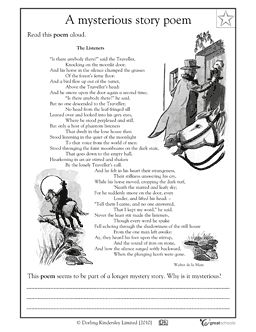 FREE PRINTABLE~  Mysterious Story Poem worksheet helps students practice using pronouns.  The writer avoids pronouns by repeating the nouns. In this language arts worksheet, your child will get practice identifying nouns and pronouns by comparing and contrasting a section of a poem with pronouns replacing nouns.