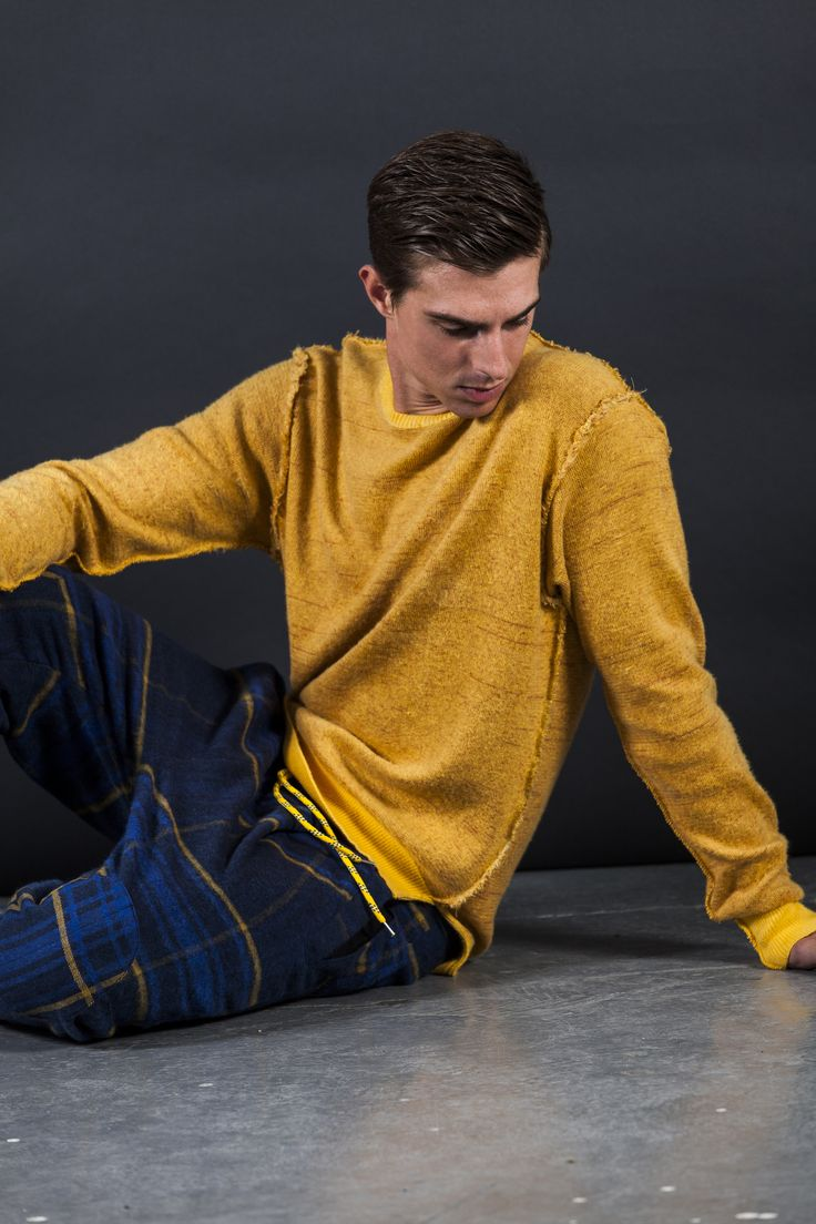 Neck brushed Knitting Pant mod. JEFFERSON