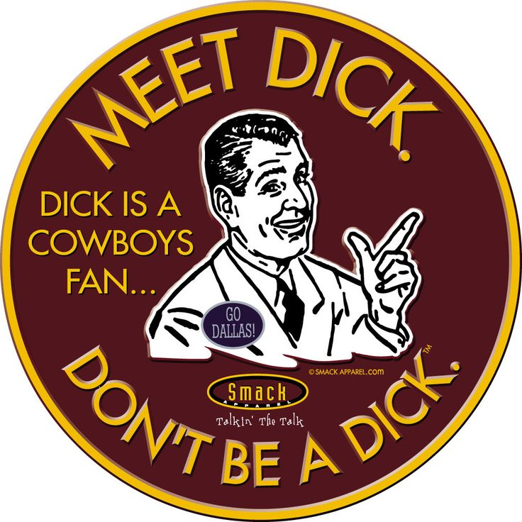 Washington Redskins Fans. Don't Be A Dick (Anti-Cowboys). Embossed Metal Man Cave Sign