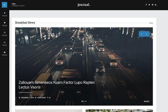 Journal - News Blog Magazine by Lin Themes on @creativemarket