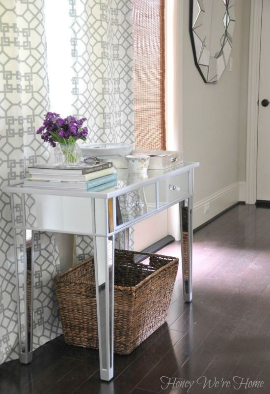 Overstock Foyer Furniture : Honey we re home drop zone entryway mirrored table from