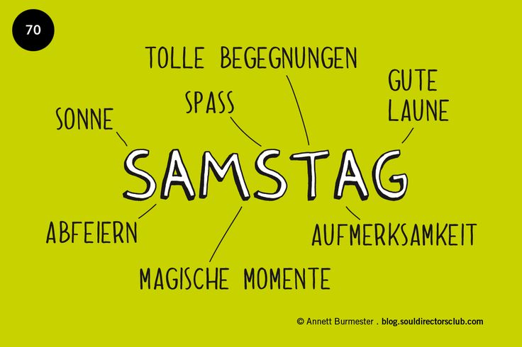 """Happy Samstag!"""