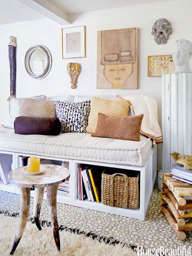 Embrace Change # House Beautiful. Have multiple uses for your furniture & other small space design ideas.