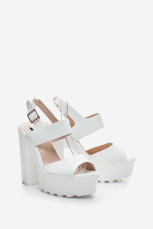 Sandały na platformie Joy białe