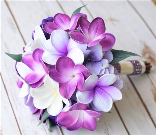 Natural Touch Purple Plumerias Bouquet