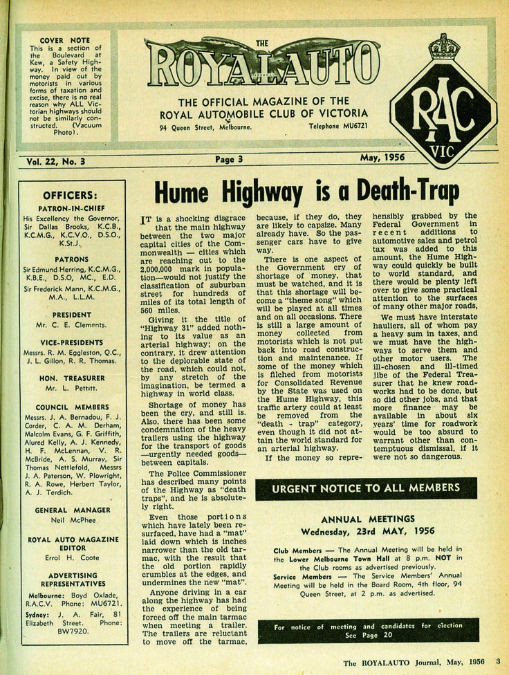 RoyalAuto, May 2016. Rediscover the Old Hume Highway. #HumeHighway