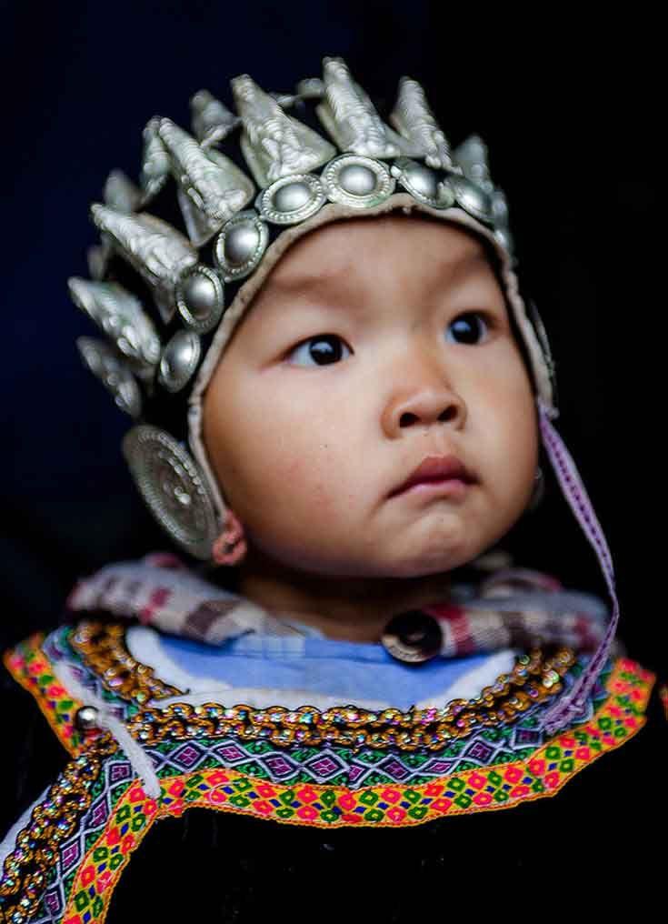China - Guizhou   A young Miao child in Fanpai village.   ©Frans Devriese