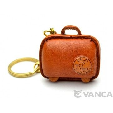 GENUINE 3D LEATHER SUITCASE KEYCHAIN MADE BY SKILLFUL CRAFTSMEN OF VANCA CRAFT IN JAPAN. #handmade #keyfob #gift #unique #art #design #cute #goods