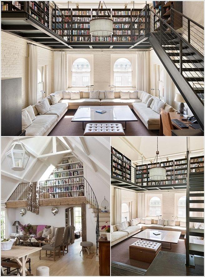 Home Library Loft: Loft Spaces, House, Loft House