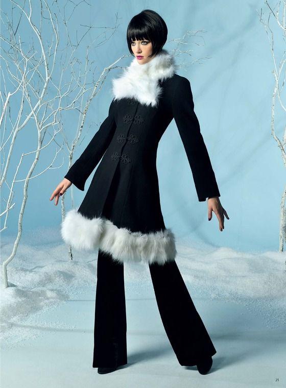 cute fur trim winter coat, reminds me of an old Barbie coat  #winterfashion #auckland #nz - Adrienne Winkelmann