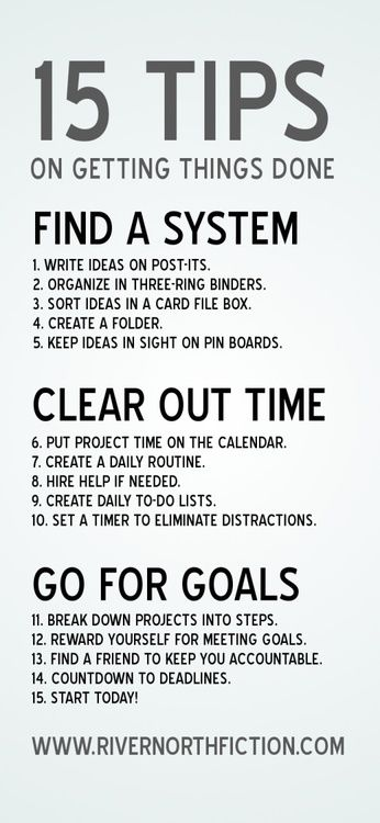 "15 Organization Tips! Previous pinner said ""It's time to get things to be done…"