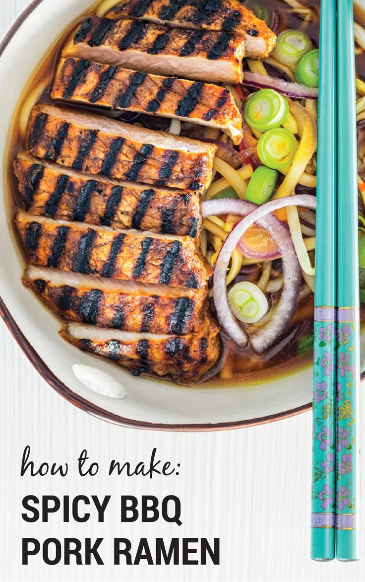 We're bringing the heat to your dinner table with the help of this Spicy BBQ Pork Ramen recipe. Barbecue sauce, sweet chili sauce, soy sauce, garlic, and bean sprouts add a rich and zesty flavor to this Asian-inspired soup. This dish would be equally delicious for lunch or for dinner.