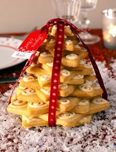 Pièce montée sapin de Noël en sablés - Recette de Cuisine ~ Mademoiselle Cuisine…