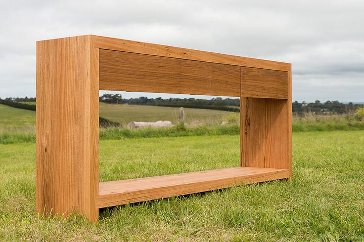 Grove timber console made to order from recycled messmate timber.  Can be made to your size requirements and timber preferences. #bomboracustomfurniture #recycledtimberfurniture #timberconsole