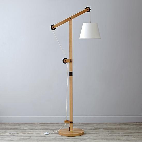 56 best floor lamps images on pinterest floor lamps floor pulley floor lamp mozeypictures Image collections