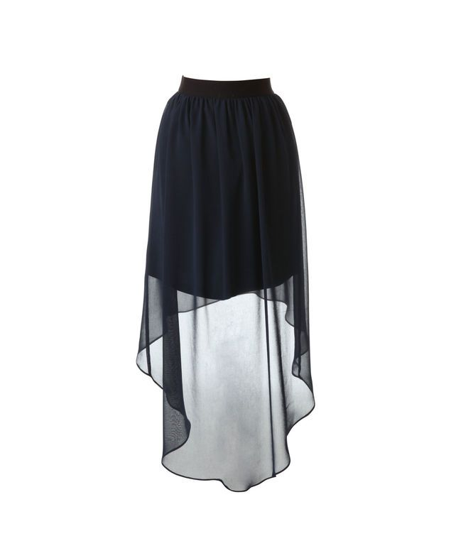 Hi-low chiffon skirt, lightweight and great for summer!