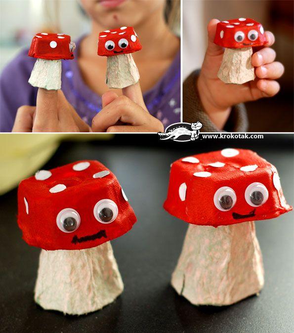 mushroom kids craft - 101ideer.se