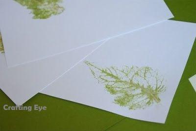 Crafting Eye: Leaf printing!!!