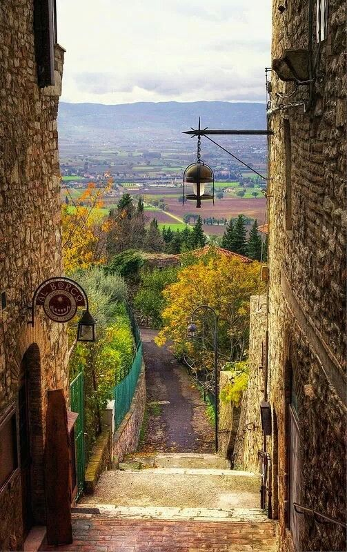 The village of Assissi in the province of Perugia ~ Umbria Region of Italy