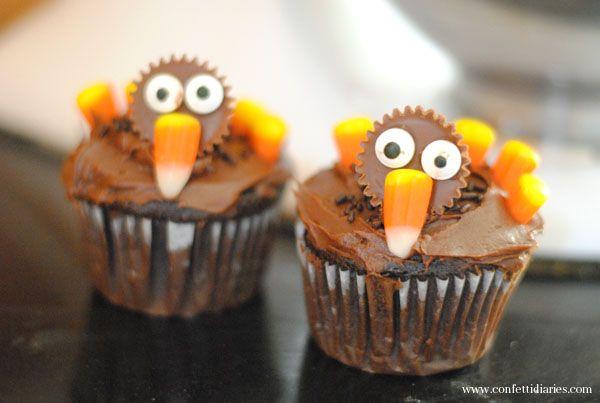 To Bake: Thanksgiving Turkey Cupcakes