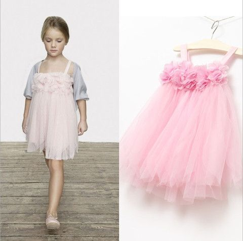 Petal Lace Flower Tulle Dress -Pink - Loved by Chloe