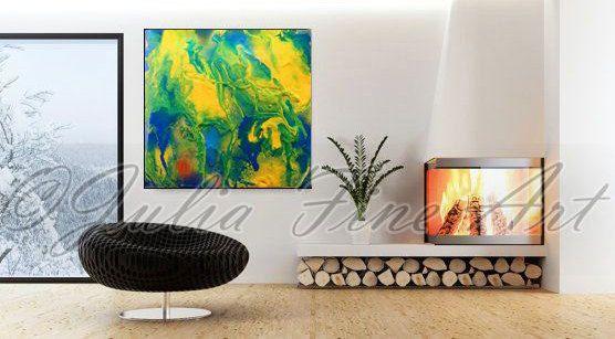 #abstractprint, #largeart #abstractpainting, #printoncanvas, #earthprint, #greenart, #yellowprint, #blueart #blueprint #bluepainting, #orangepainting #greenpainting, #goldart, #seascape, #contemporaryart on by #JuliaApostolova