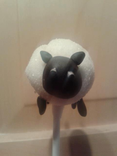 Baaa! Rather cute Sheep Cake Pop!