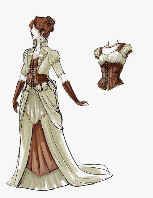 boceto moda steampunk