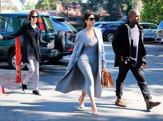 Kim Kardashian and Kanye West Take Grandma MJ to Breakfast in Their Fabulous Rolls Royce | E! Online Mobile