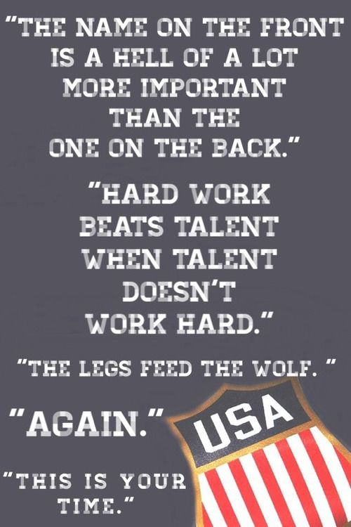 Words of wisdom from the legendary Herb Brooks, a coach so good that TWO NHL players are named after him.