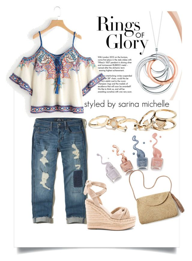 """""""Untitled #208"""" by styledxsarina on Polyvore featuring Tiffany & Co., Hollister Co., Kendall + Kylie, GUESS and Mar y Sol"""