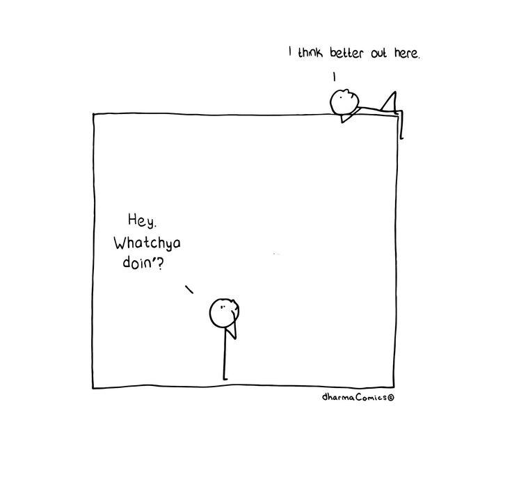 Thinking Outside the Box http://dharmacomics.com/dharma-comics/thinking-outside-the-box/